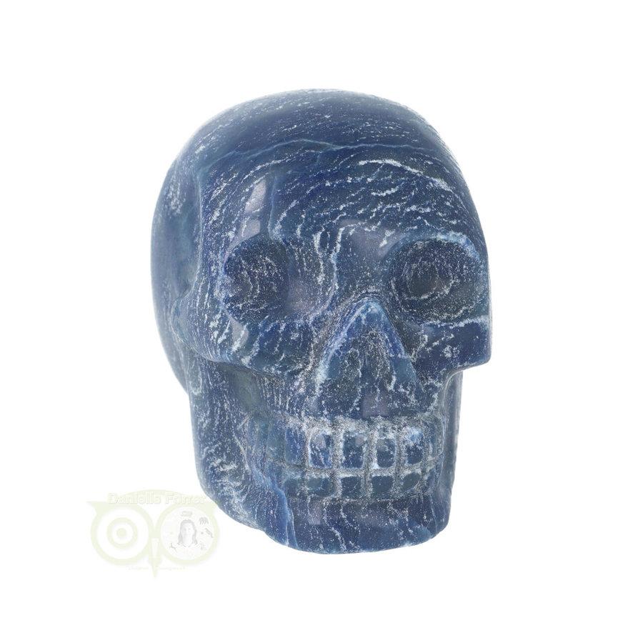 Blauwe kwarts kristallen schedel 606 gram-3