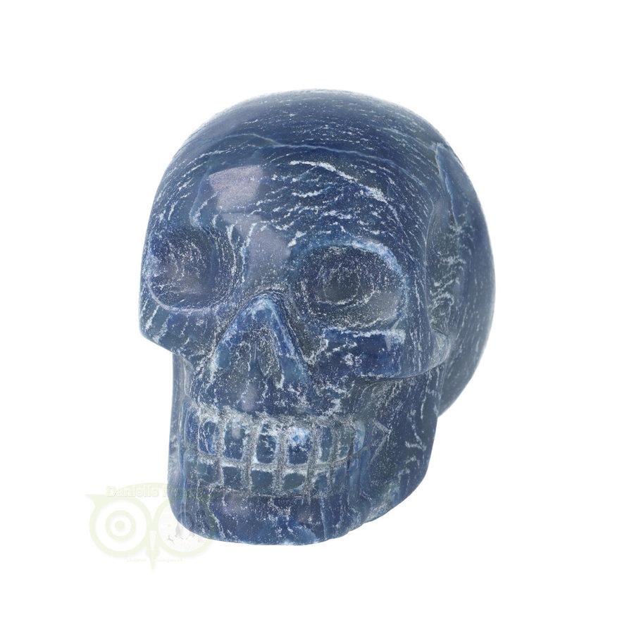 Blauwe kwarts kristallen schedel 606 gram-4