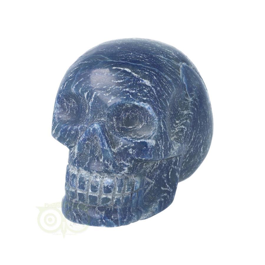 Blauwe kwarts kristallen schedel 606 gram-5