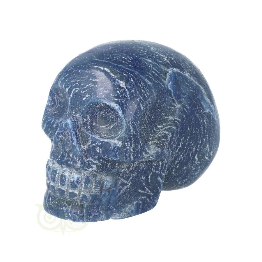 Blauwe kwarts kristallen schedel 606 gram-6