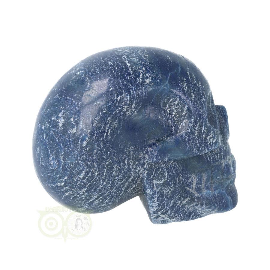 Blauwe kwarts kristallen schedel 606 gram-9