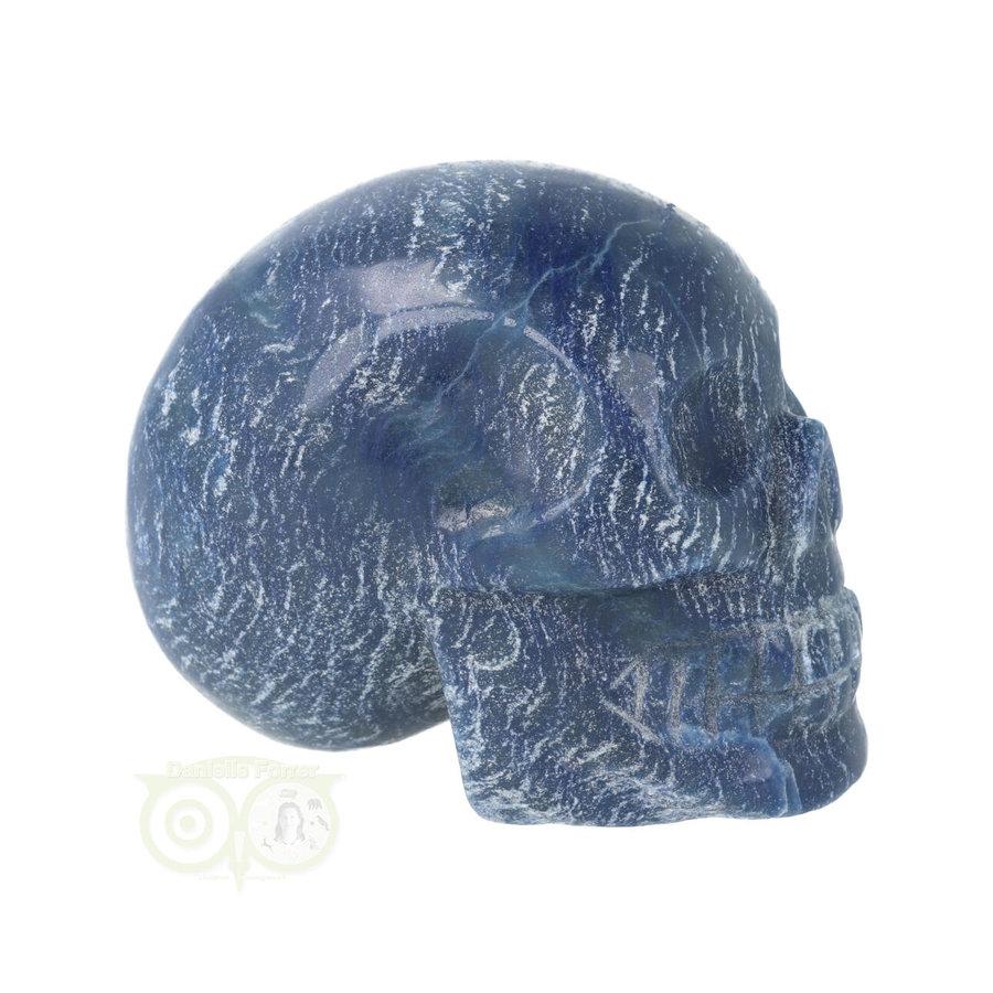 Blauwe kwarts kristallen schedel 606 gram-10