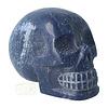 Blauwe kwarts kristallen schedel 1170 gram