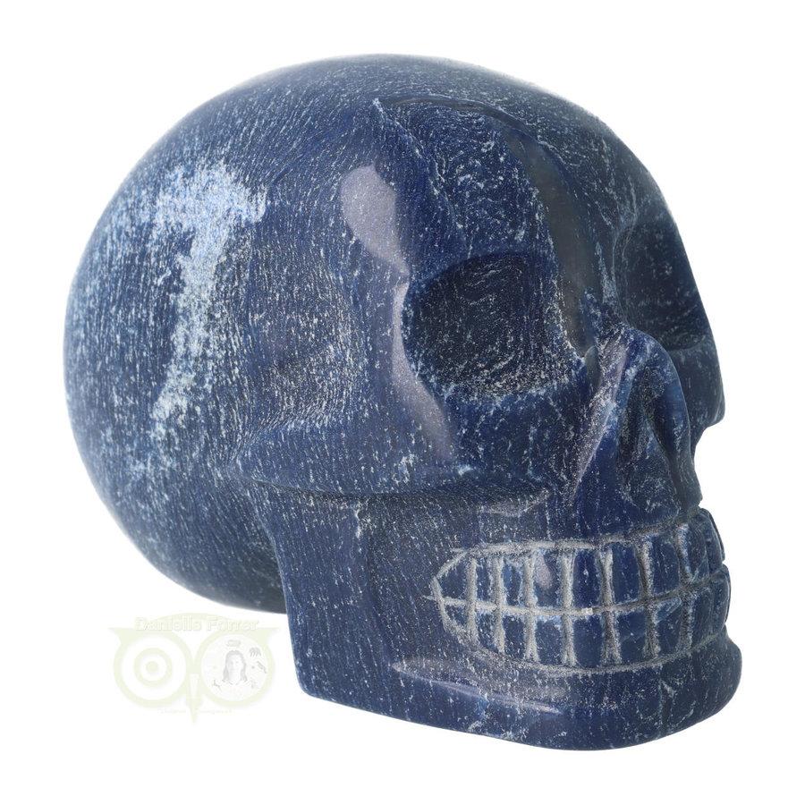 Blauwe kwarts kristallen schedel 1170 gram-1