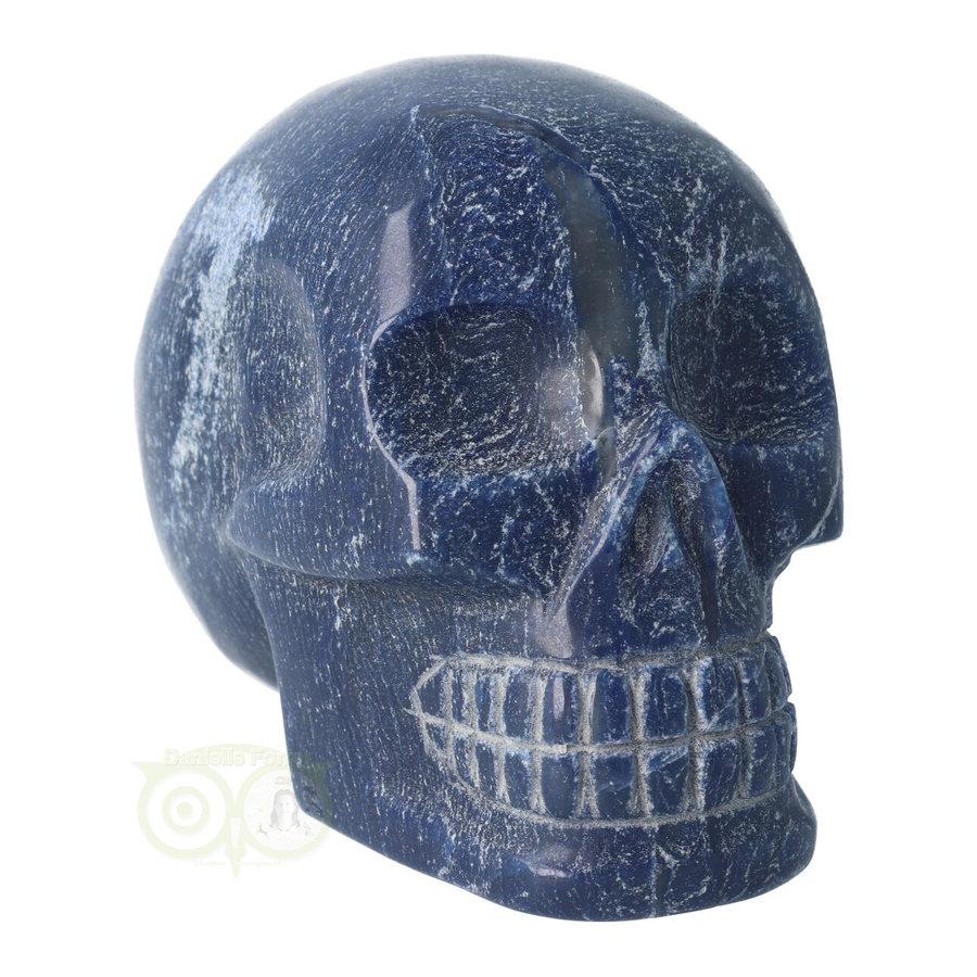 Blauwe kwarts kristallen schedel 1170 gram-2