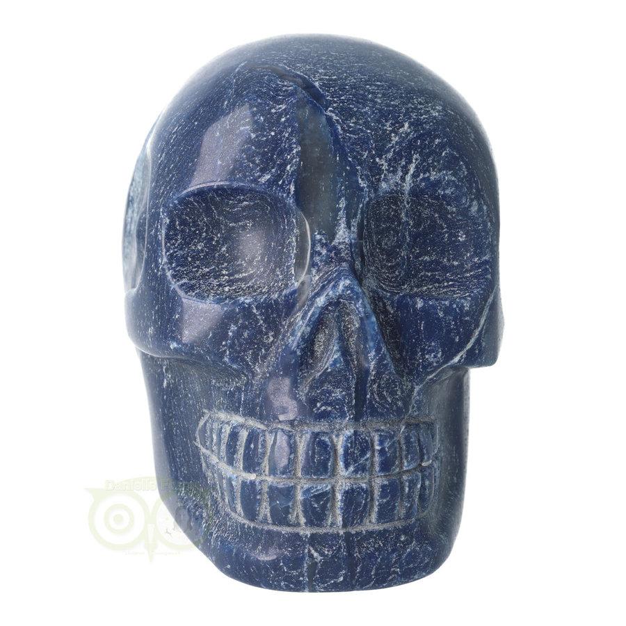 Blauwe kwarts kristallen schedel 1170 gram-3