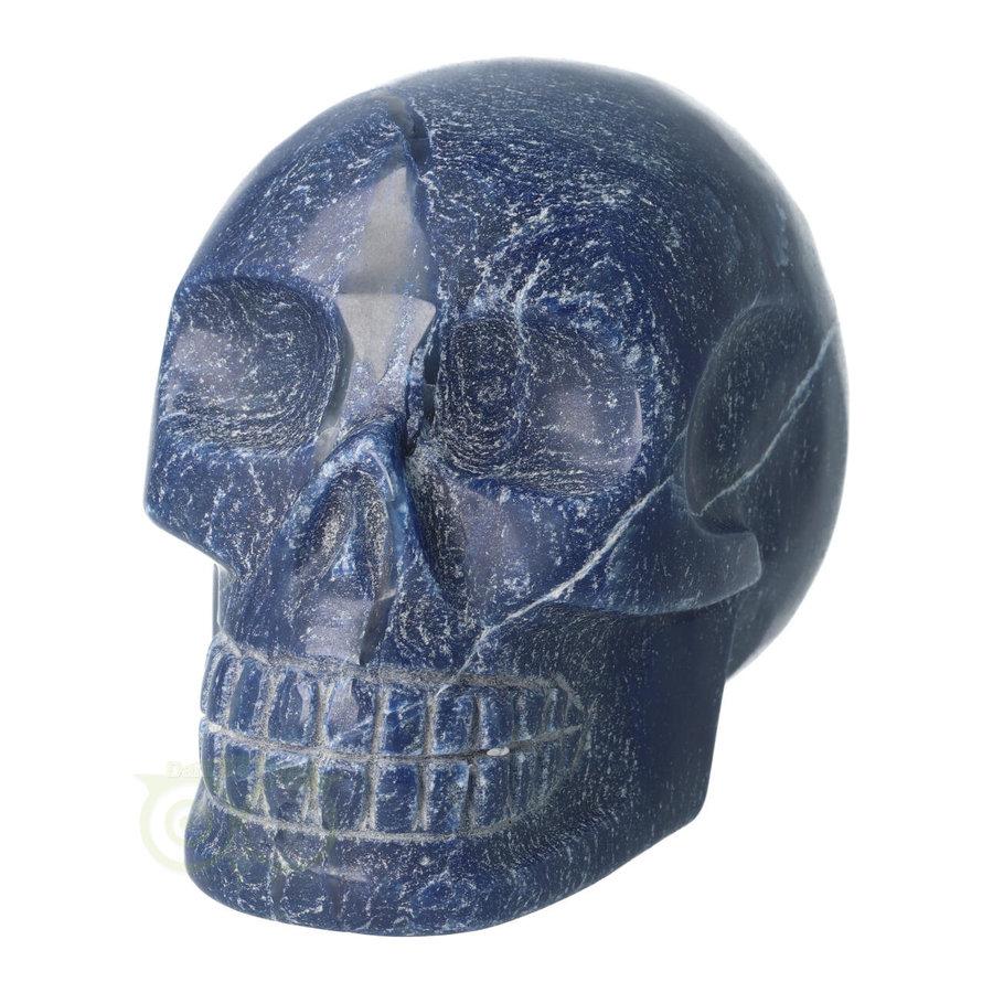 Blauwe kwarts kristallen schedel 1170 gram-4