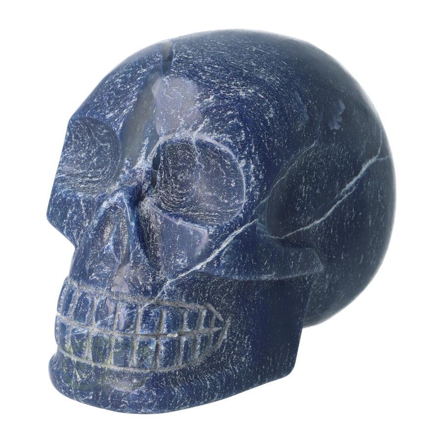 Blauwe kwarts kristallen schedel 1170 gram-5