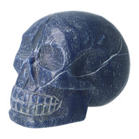 thumb-Blauwe kwarts kristallen schedel 1170 gram-6