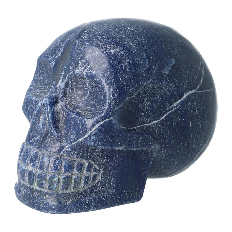 Blauwe kwarts kristallen schedel 1170 gram-6
