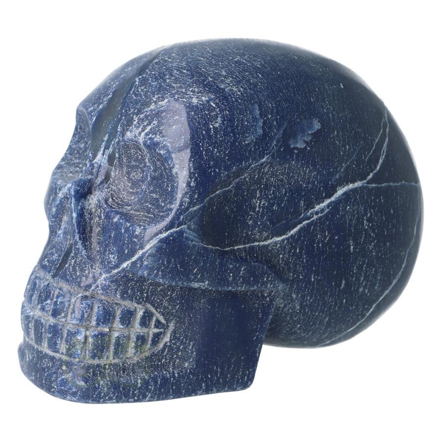 Blauwe kwarts kristallen schedel 1170 gram-7