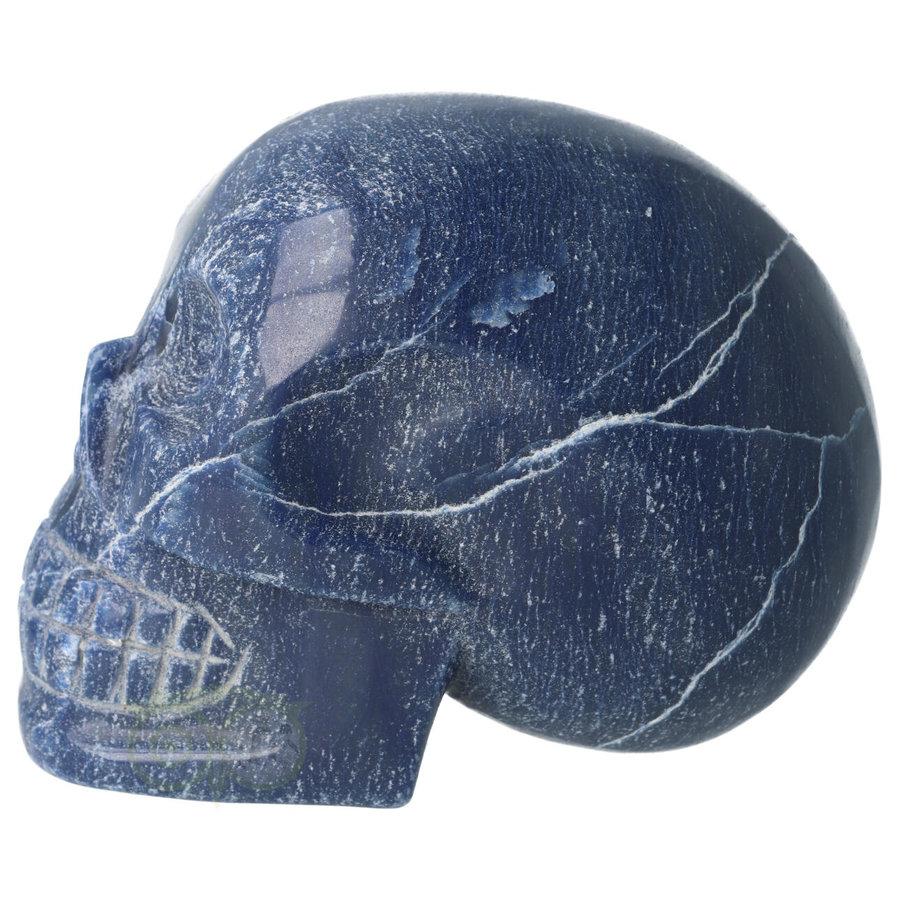 Blauwe kwarts kristallen schedel 1170 gram-8
