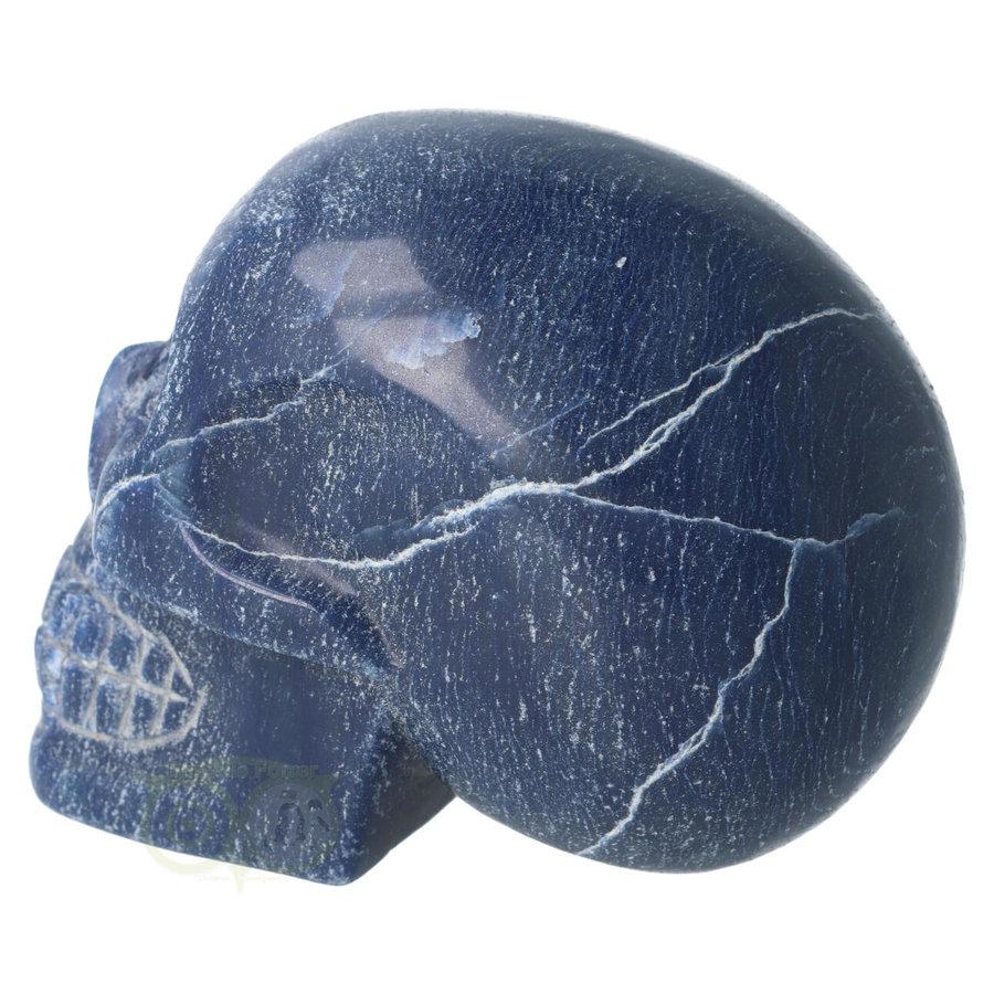 Blauwe kwarts kristallen schedel 1170 gram-9
