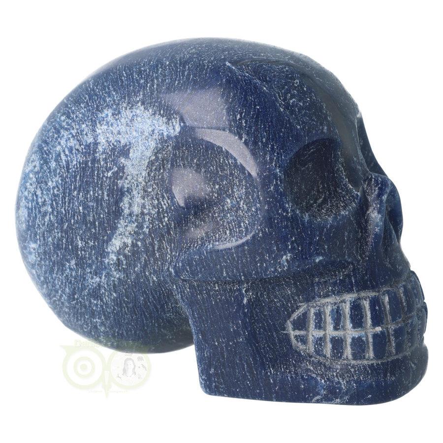 Blauwe kwarts kristallen schedel 1170 gram-10