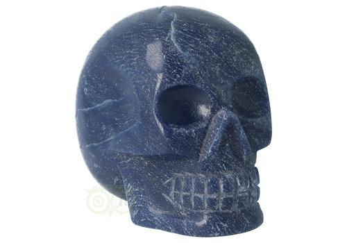 Blauwe kwarts kristallen schedel 741 gram
