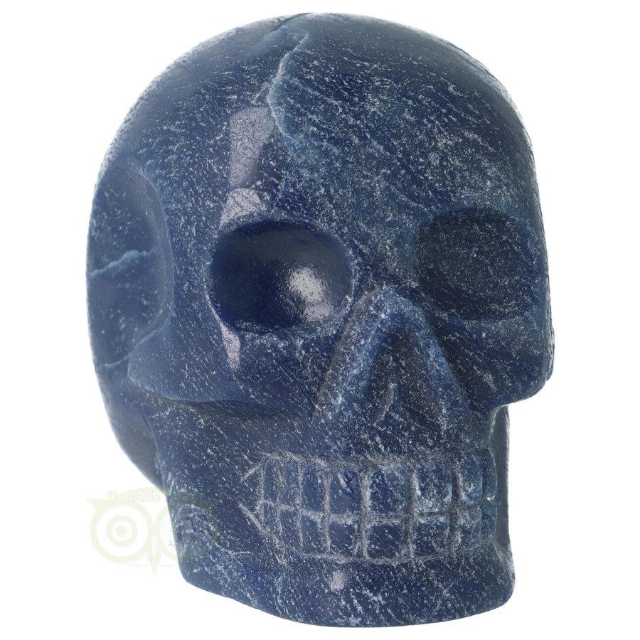 Blauwe kwarts kristallen schedel 741 gram-2
