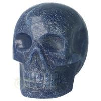 thumb-Blauwe kwarts kristallen schedel 741 gram-3