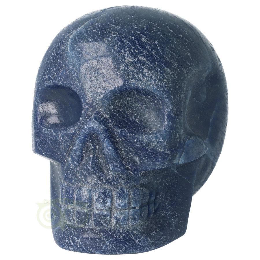 Blauwe kwarts kristallen schedel 741 gram-3