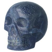 thumb-Blauwe kwarts kristallen schedel 741 gram-4
