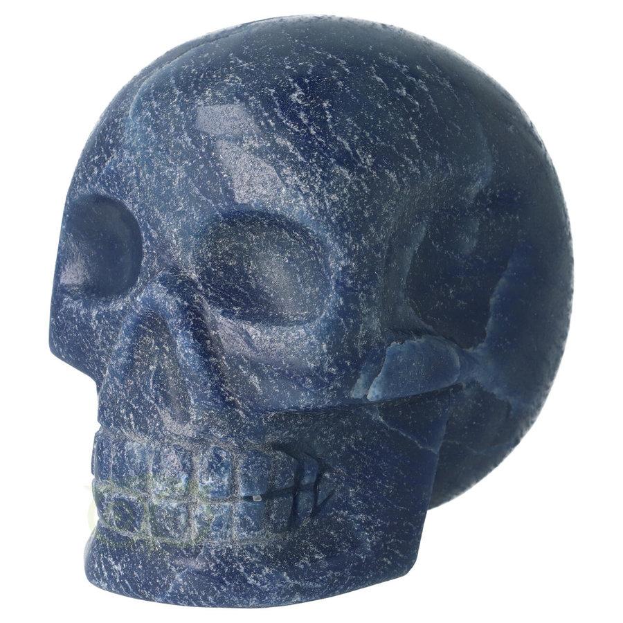 Blauwe kwarts kristallen schedel 741 gram-4