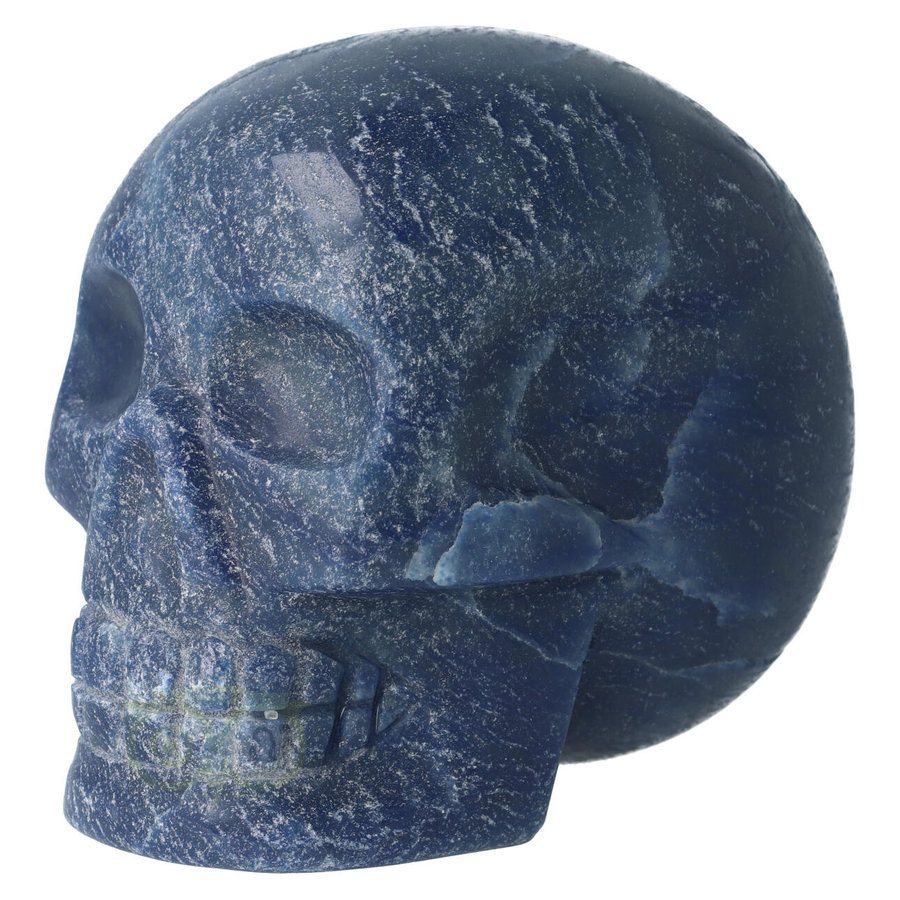 Blauwe kwarts kristallen schedel 741 gram-5