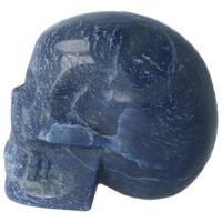 thumb-Blauwe kwarts kristallen schedel 741 gram-6