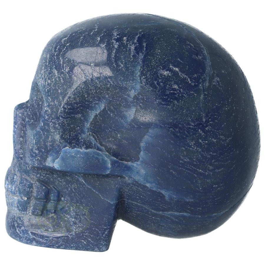 Blauwe kwarts kristallen schedel 741 gram-6