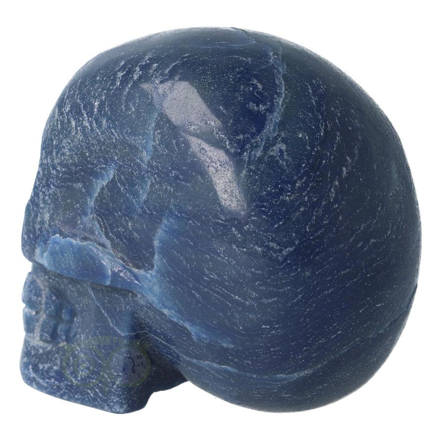 Blauwe kwarts kristallen schedel 741 gram-7