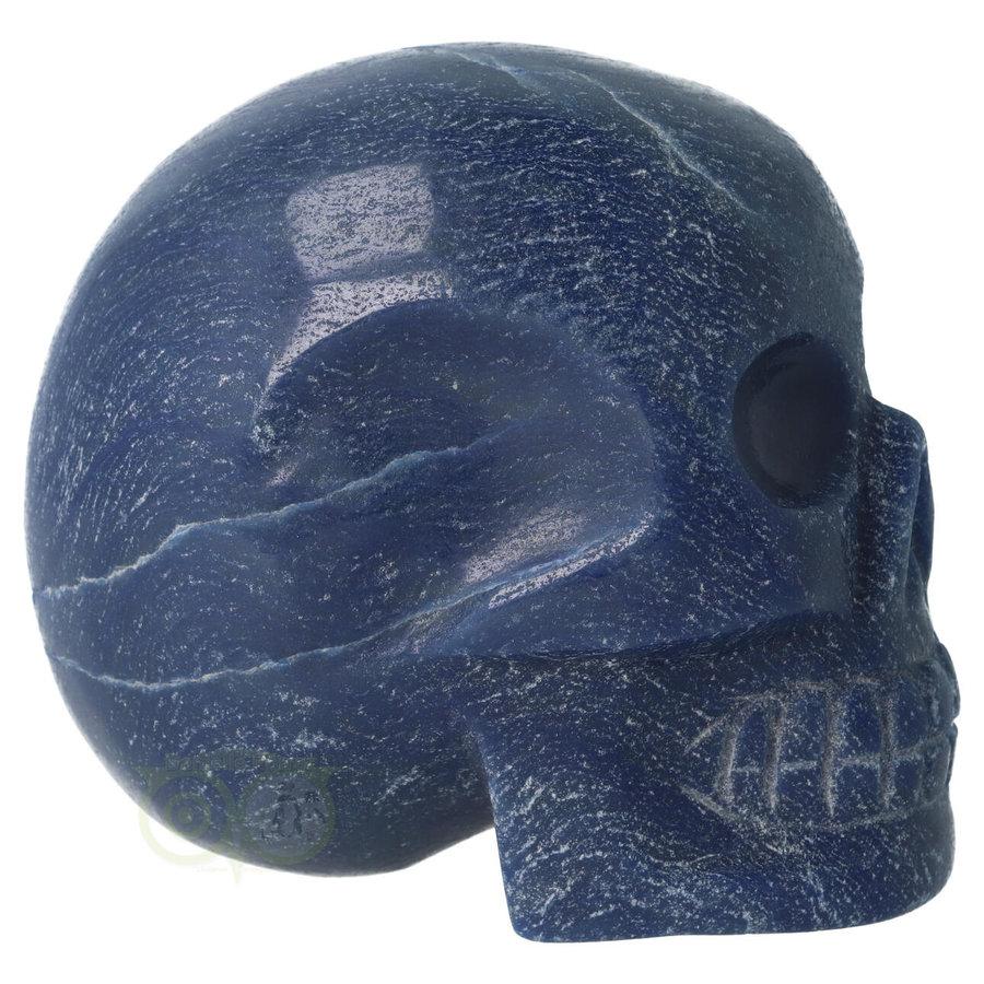 Blauwe kwarts kristallen schedel 741 gram-8