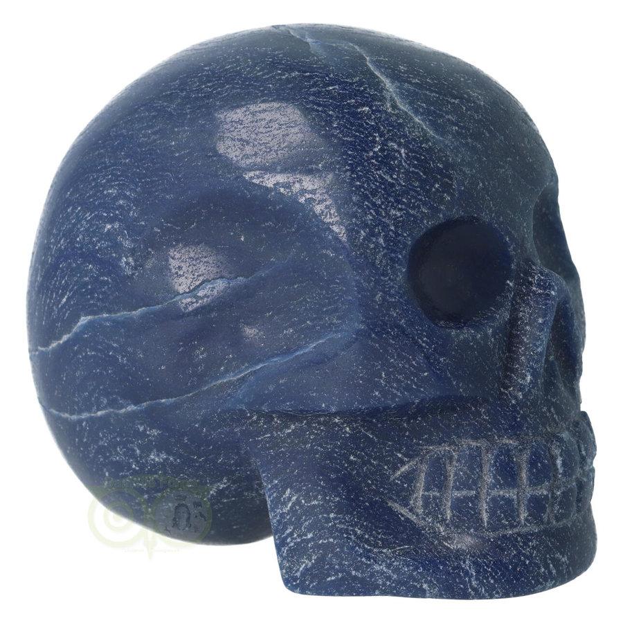 Blauwe kwarts kristallen schedel 741 gram-9