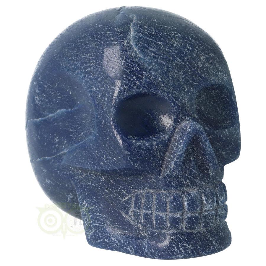 Blauwe kwarts kristallen schedel 741 gram-10