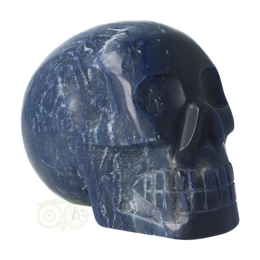 Blauwe kwarts kristallen schedel 854 gram-10