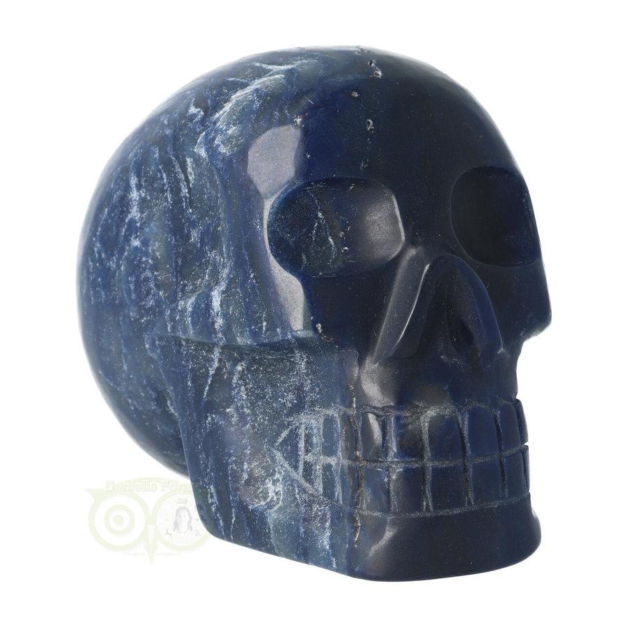 Blauwe kwarts kristallen schedel 854 gram-9