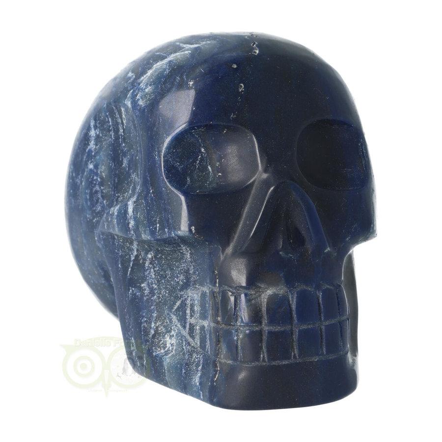 Blauwe kwarts kristallen schedel 854 gram-8