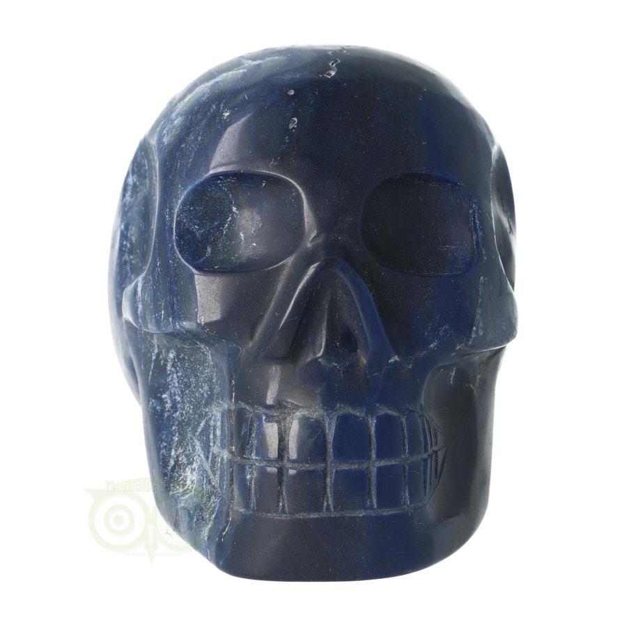 Blauwe kwarts kristallen schedel 854 gram-7