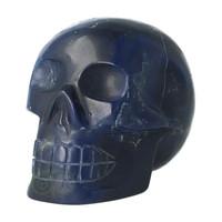 thumb-Blauwe kwarts kristallen schedel 854 gram-1