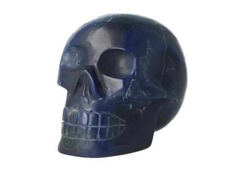 Blauwe kwarts kristallen schedel 854 gram