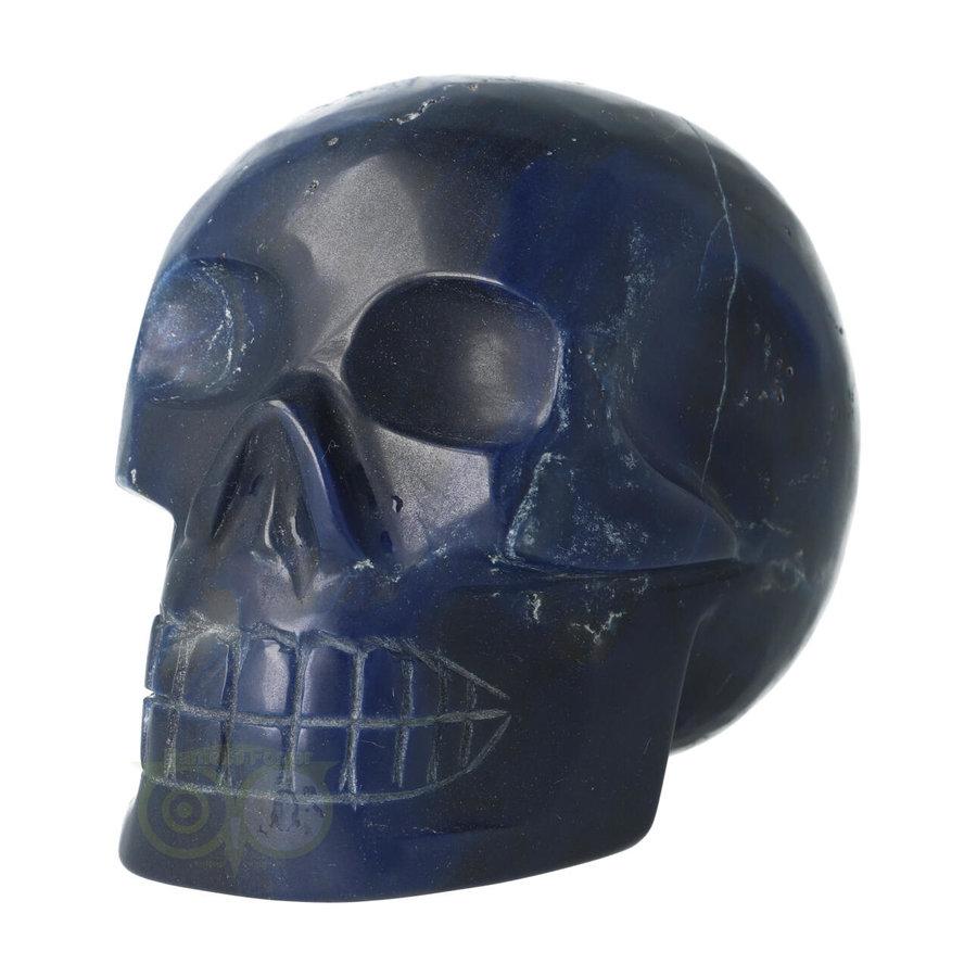 Blauwe kwarts kristallen schedel 854 gram-1