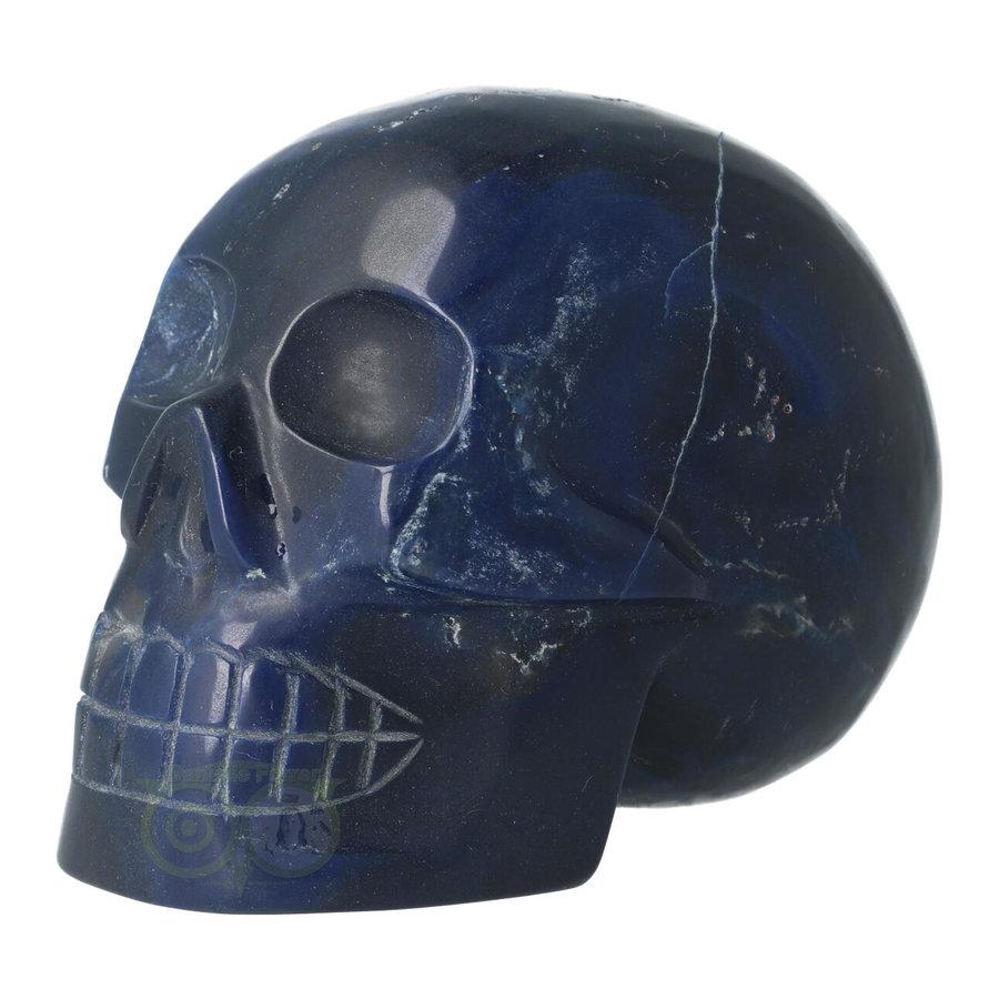 Blauwe kwarts kristallen schedel 854 gram-2