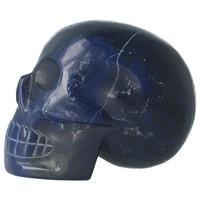 thumb-Blauwe kwarts kristallen schedel 854 gram-3