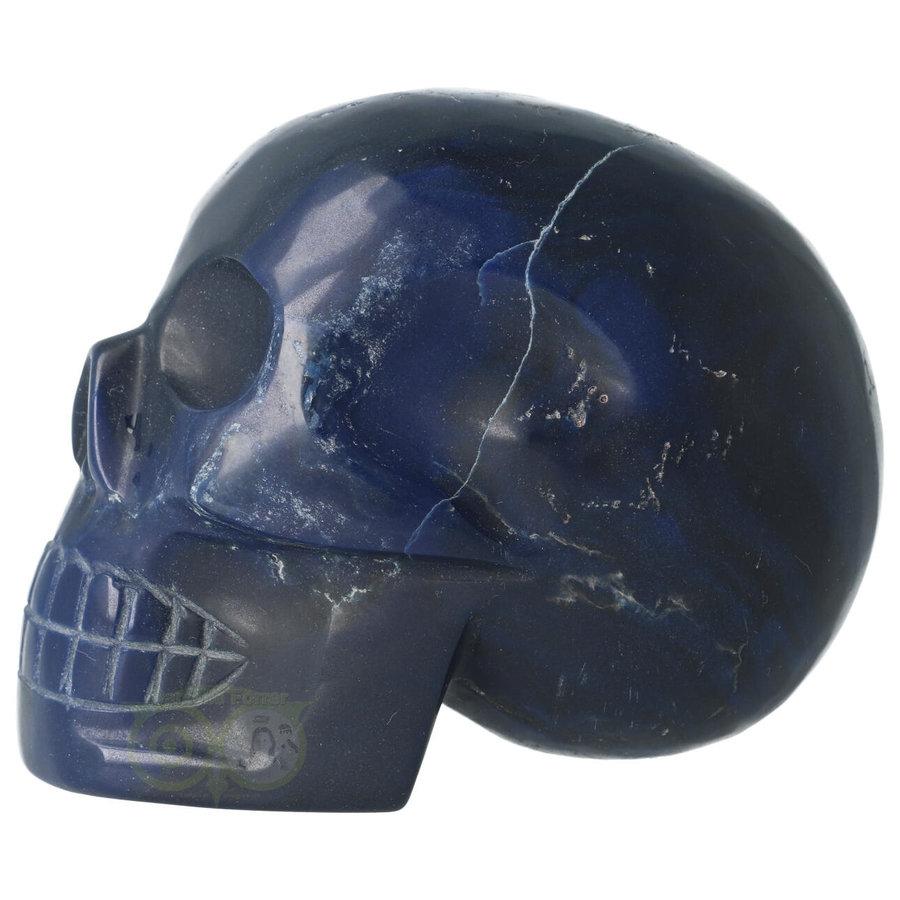 Blauwe kwarts kristallen schedel 854 gram-3