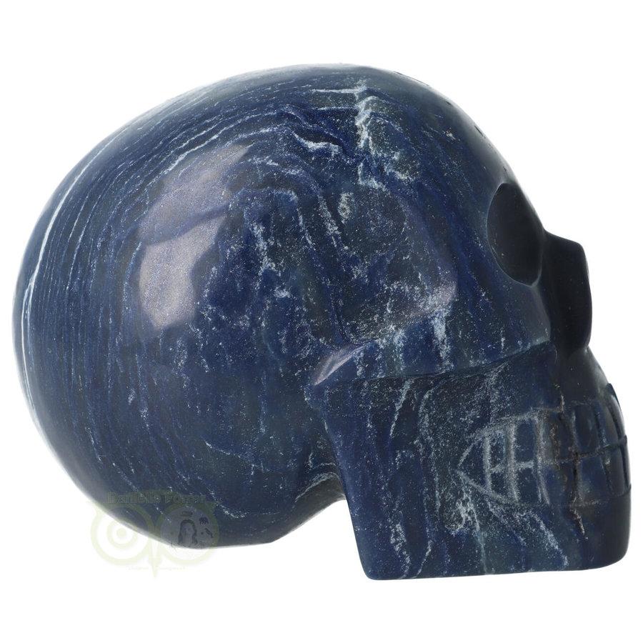 Blauwe kwarts kristallen schedel 854 gram-4