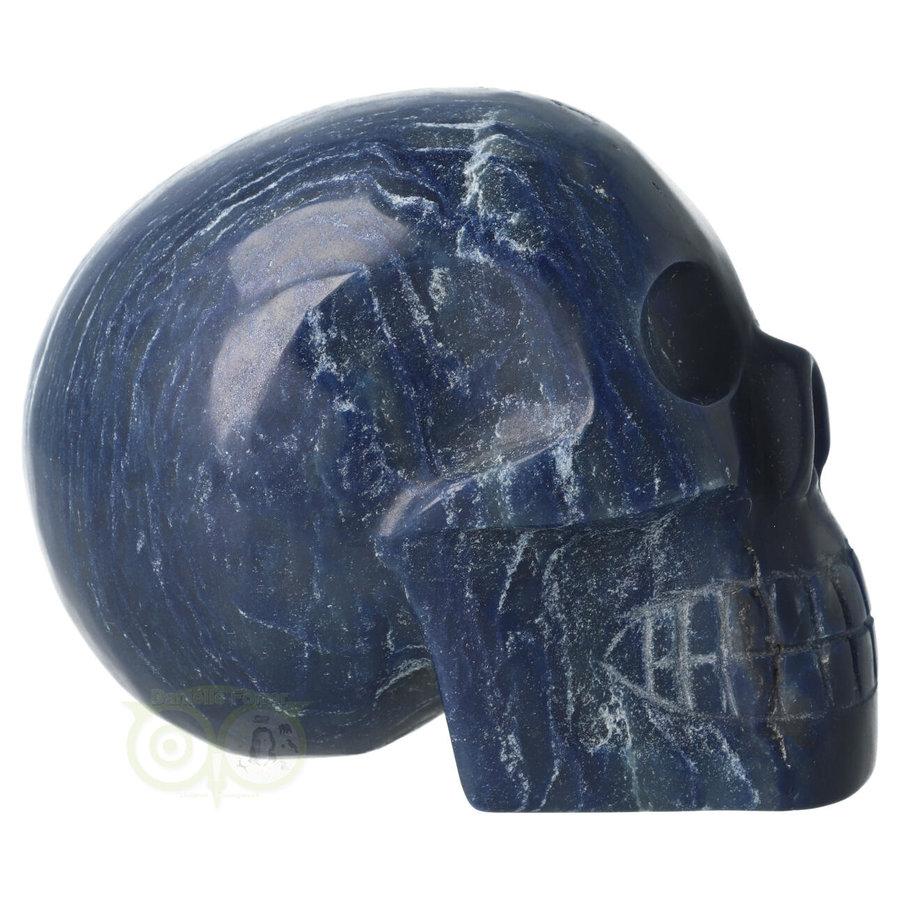 Blauwe kwarts kristallen schedel 854 gram-5