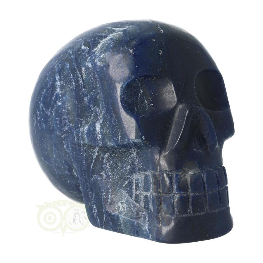 Blauwe kwarts kristallen schedel 854 gram-6
