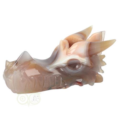 Agaat Chalcedoon Geode Drakenschedel 619 gram