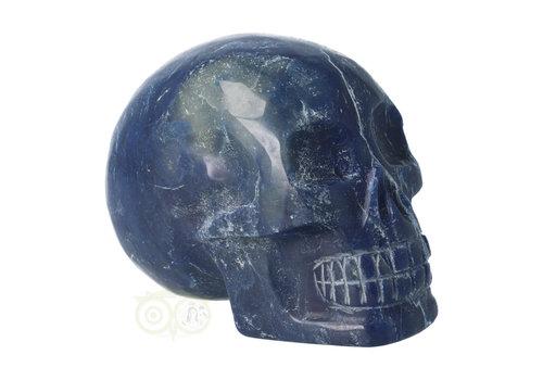 Blauwe kwarts kristallen schedel 1.14 kg