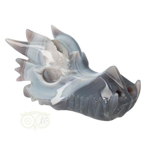 Agaat Drakenschedel 822 gram