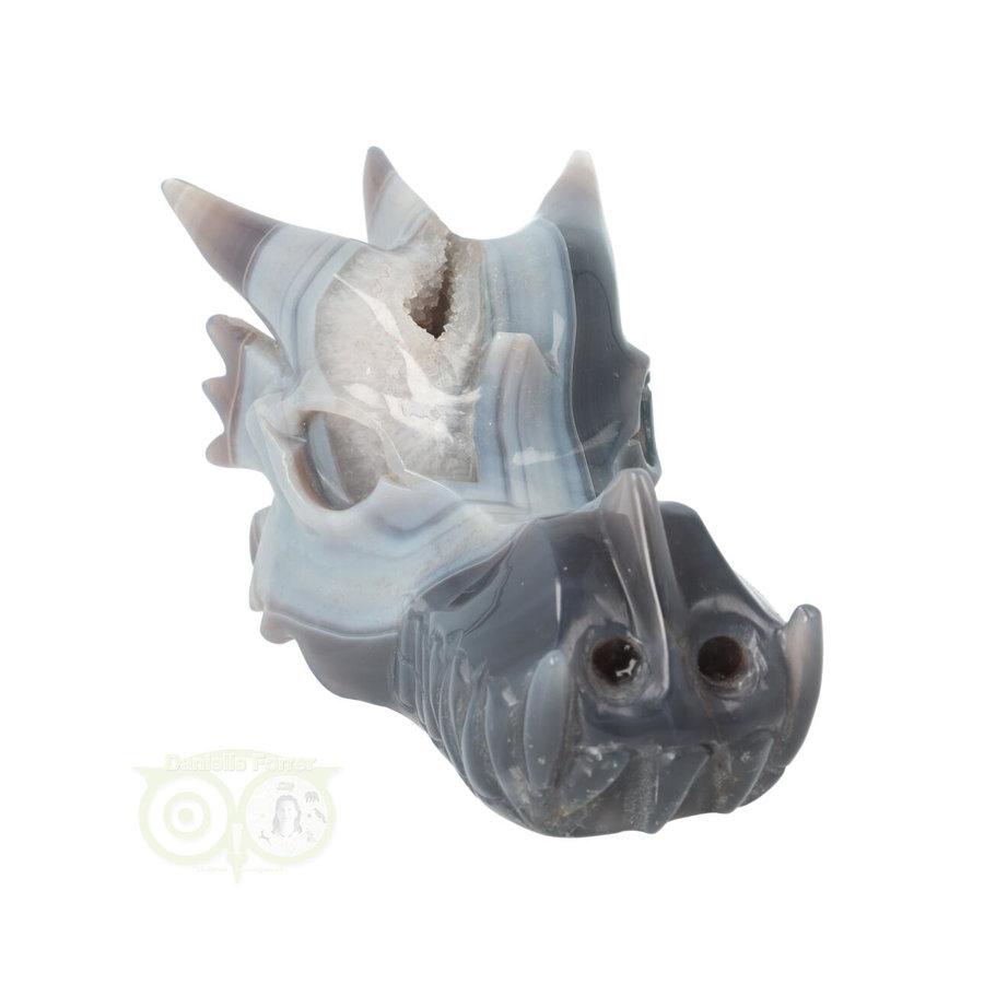 Agaat Geode Drakenschedel 822 gram-3