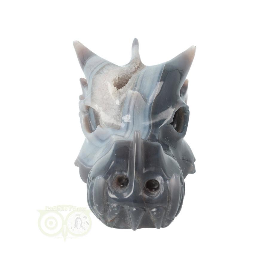 Agaat Geode Drakenschedel 822 gram-4
