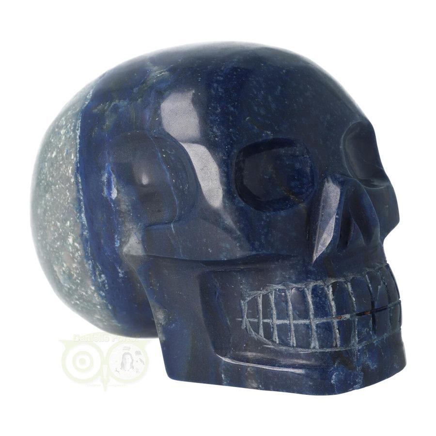 Blauwe kwarts kristallen schedel 1499 gram-1